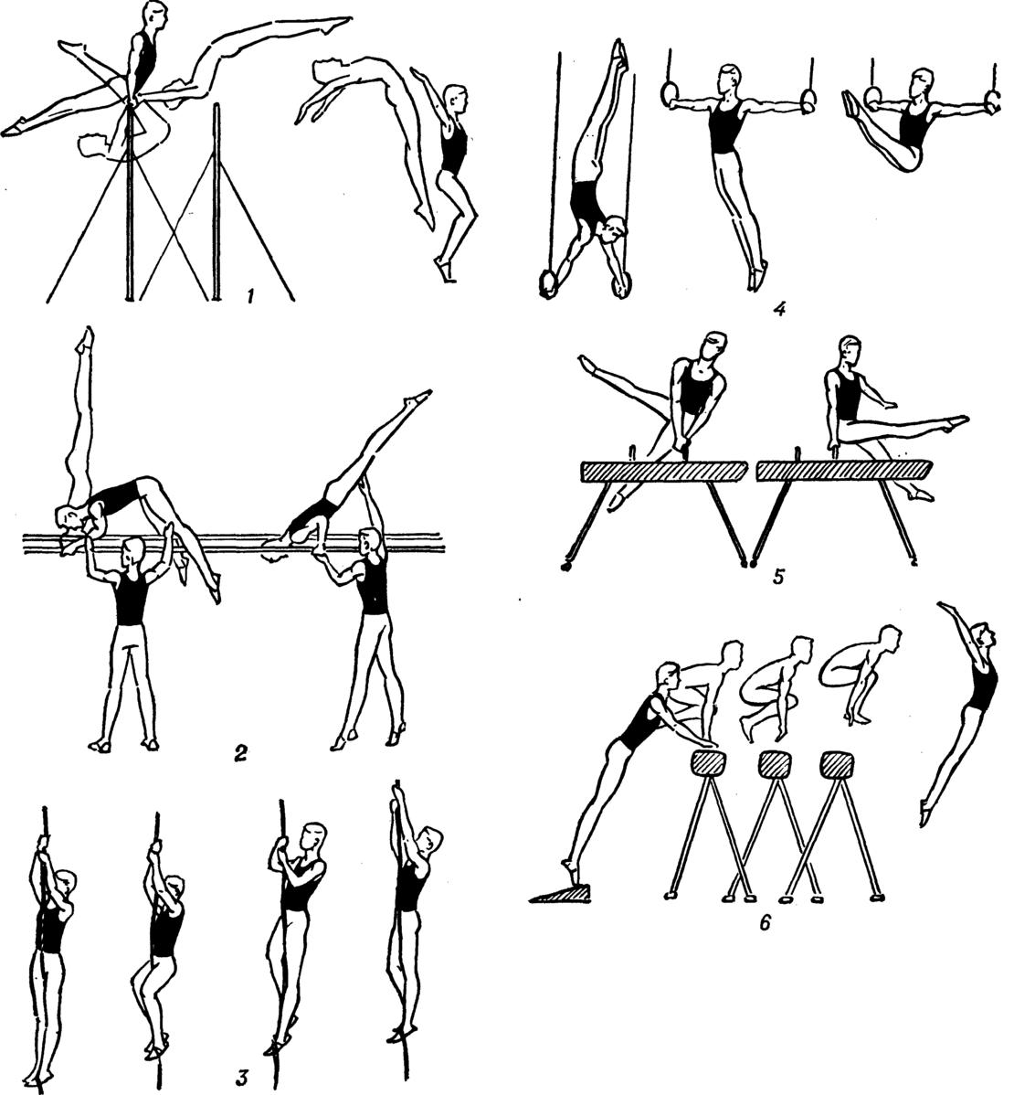 обучение гимнастике по картинками нетрадиционных
